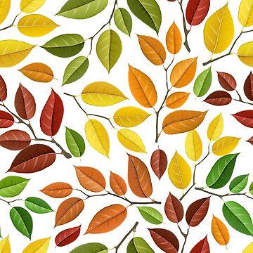Autumn leaf pattern by creaschon