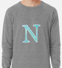Teal Watercolor Ν Lightweight Sweatshirt