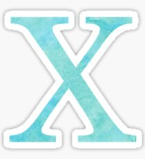 Teal Watercolor Χ Sticker