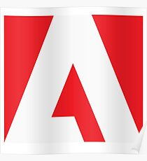 Adobe Simple Logo Poster