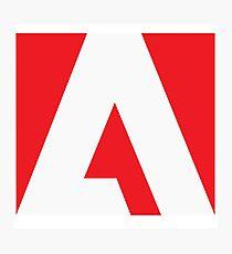 Adobe Simple Logo Photographic Print