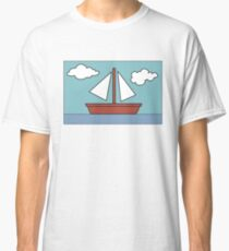 Simpsons Sailboat Painting Classic T-Shirt
