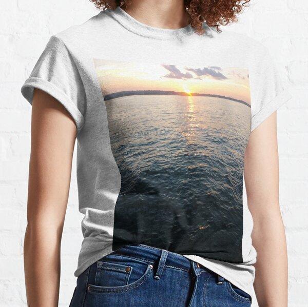 Sea, Water, Sunset, Reflection, #Sea, #Water, #Sunset, #Reflection Classic T-Shirt