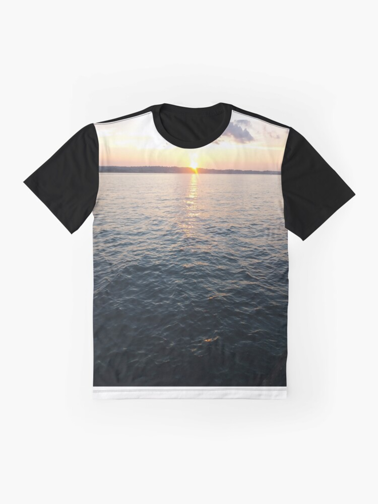 Alternate view of Sea, Water, Sunset, Reflection, #Sea, #Water, #Sunset, #Reflection Graphic T-Shirt