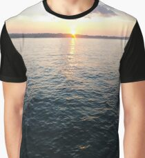 Sea, Water, Sunset, Reflection, #Sea, #Water, #Sunset, #Reflection Graphic T-Shirt