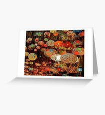 Lanterns in the Grand Bazaar, Istanbul Greeting Card
