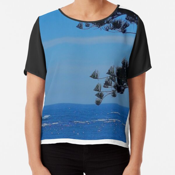 Kiama Beachfront Silhouette  Chiffon Top