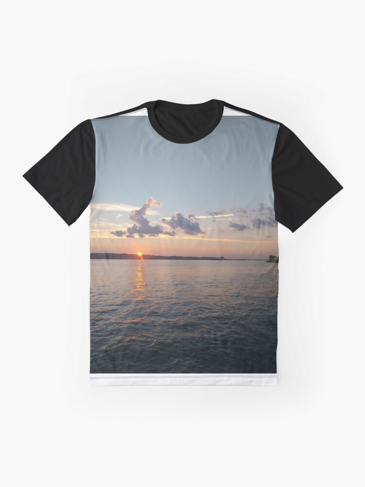 Alternate view of Water, Sunset, Reflection, #Water, #Sunset, #Reflection Graphic T-Shirt