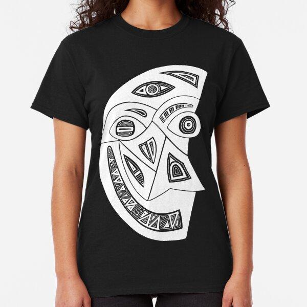 Maske Totem Mond Weiss Classic T-Shirt