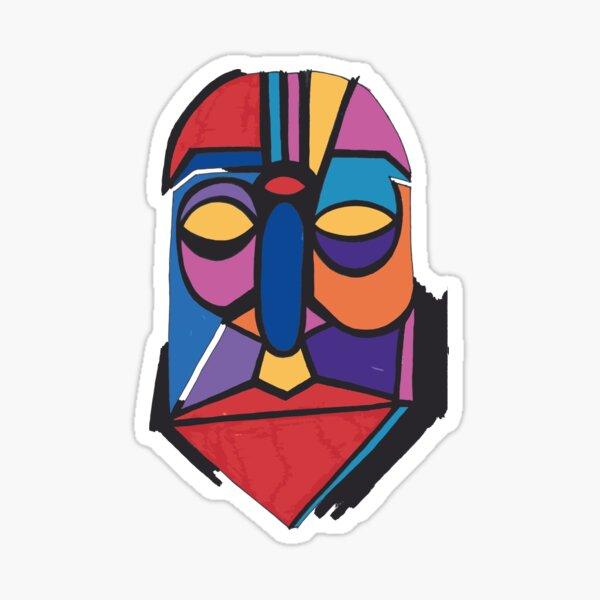 Maske Totem Roboter Rüstung Sticker