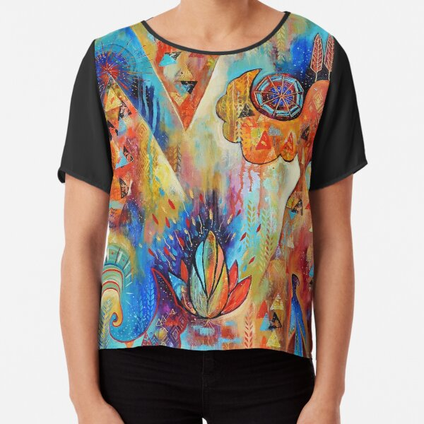World Creation. Dance | Art Chiffon Top