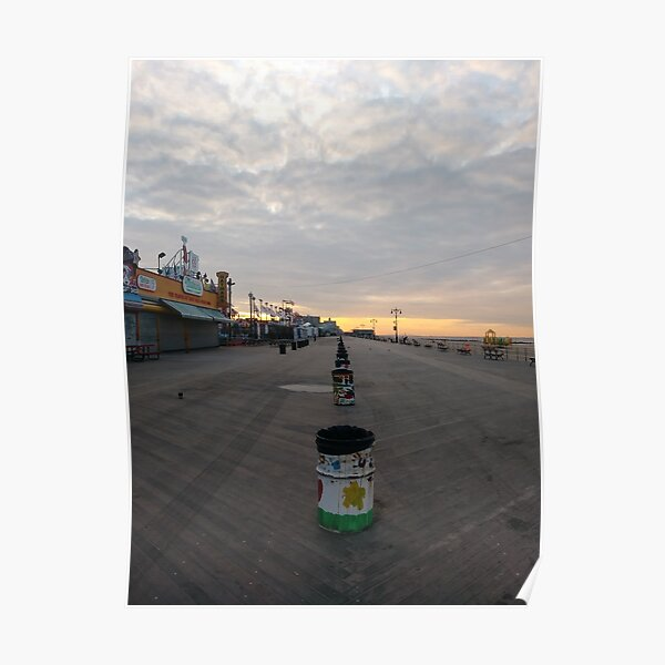 Morning, Coney Island Beach, #Morning, #Coney, #Island, #Beach, #ConeyIsland, #ConeyIslandBeach Poster