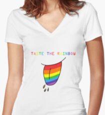 Taste The Rainbow Women's Fitted V-Neck T-Shirt