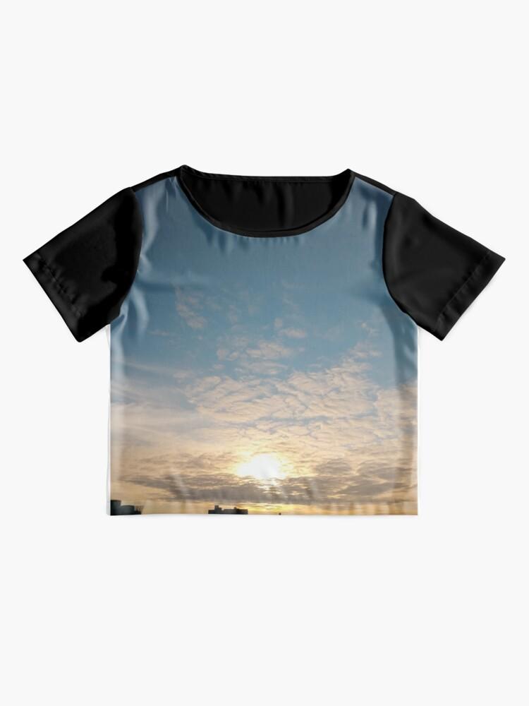 Alternate view of Sunlight, Coney Island Beach, #Sunlight, #Coney, #Island, #Beach, #ConeyIsland, #ConeyIslandBeach Chiffon Top
