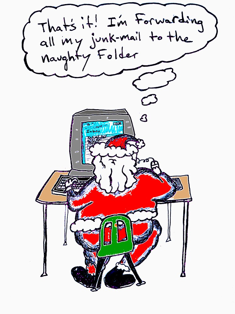 Santa's Inbox (color) by soyouresaying