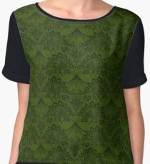 Stegosaurus Lace - Green Chiffon Top