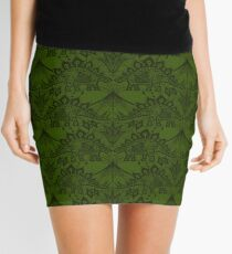Stegosaurus Lace - Green Mini Skirt