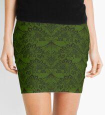 Stegosaurus Lace - Green Mini Skirt