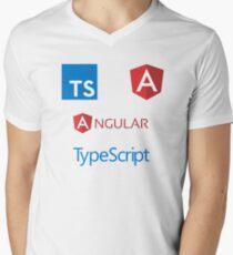angular typescript sticker set Men's V-Neck T-Shirt