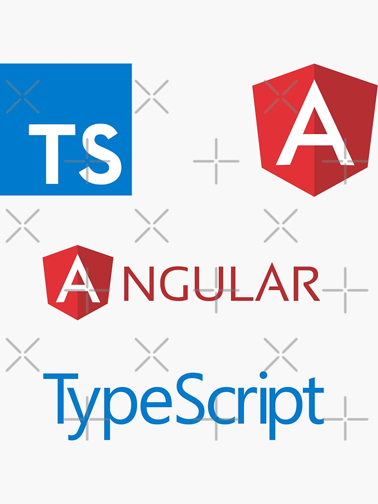angular typescript sticker set de yourgeekside