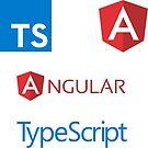 «angular typescript sticker set» de yourgeekside
