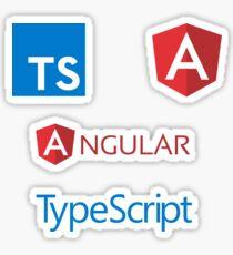 angular typescript sticker set Sticker