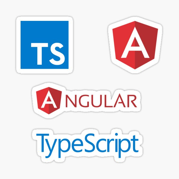 angular typescript sticker set Sticker