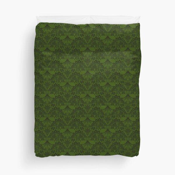 Stegosaurus Lace - Green Duvet Cover