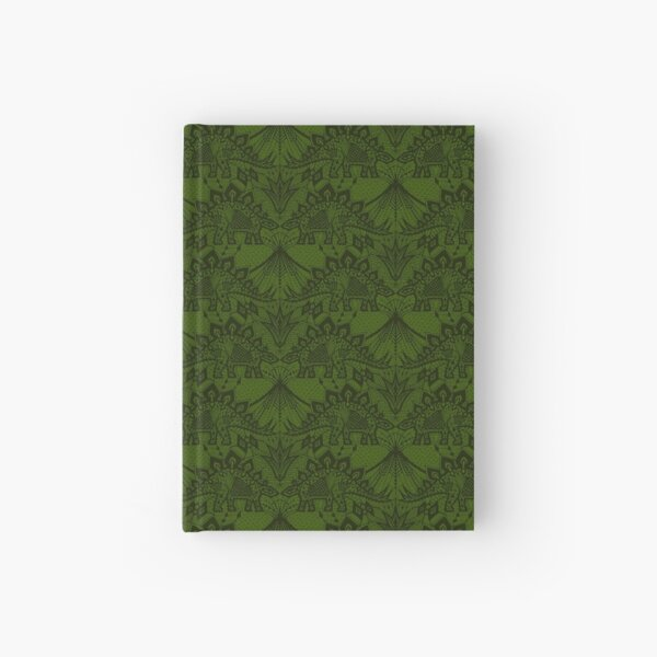 Stegosaurus Lace - Green Hardcover Journal