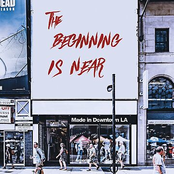 The Beginning is Near: a fresh oversized photographic tee by hippocra-tees