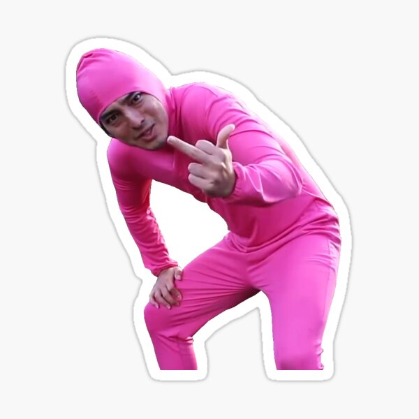 Pink Guy Sticker