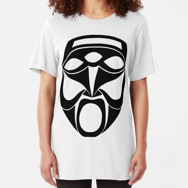 Maske Totem Weisheit Gott Slim Fit T-Shirt