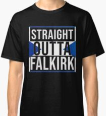Straight Outta Falkirk Retro Style - Gift For An Falkirk From Scotland , Design Has The Scottish Flag Embedded Classic T-Shirt