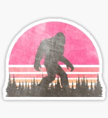 Vintage Distressed Bigfoot Shirt - Sasquatch Shirt - Bigfoot T-Shirts Sticker