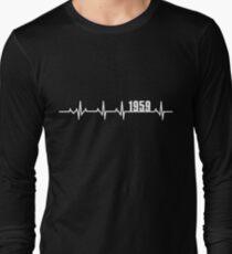 1959 Heartbeat Birthday Gift Long Sleeve T-Shirt