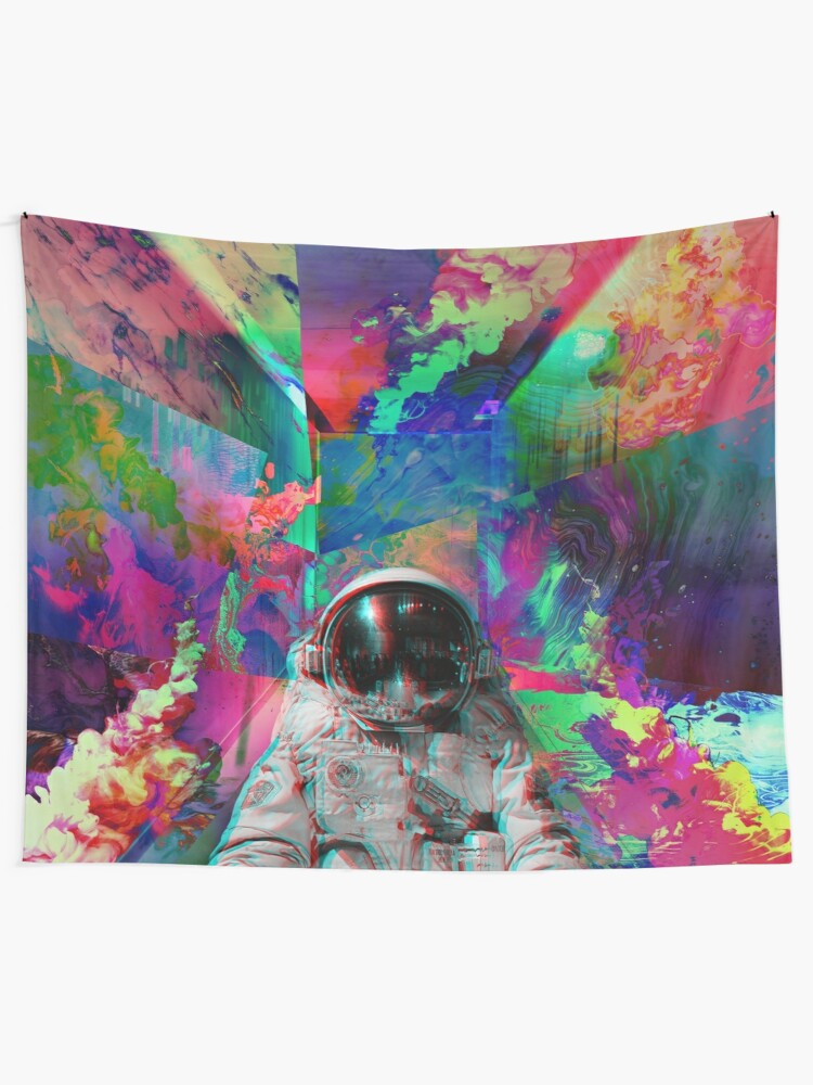 Alternate view of Tripping Space Man Tapestry