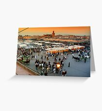 Main Plaza in Marrakesh Greeting Card