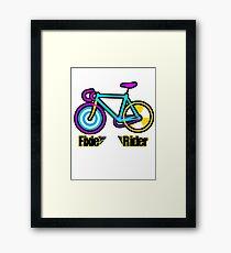 Fixie Rider Framed Print
