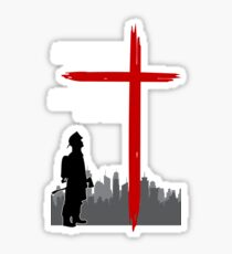 Christian Firefighter Gift And On the 8th Day Sticker