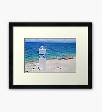 Water bottle at Arkoudaki, Paxos Framed Print