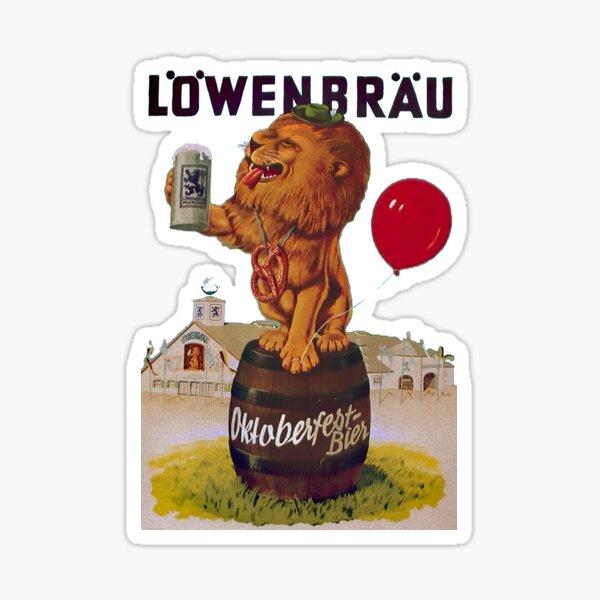 German Oktoberfest party with Lowenbrau Lion Sticker