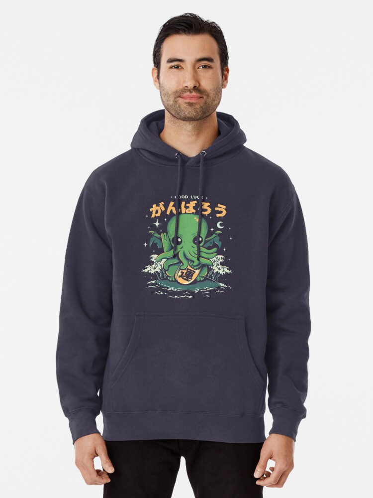 Alternate view of Good Luck Cthulhu Pullover Hoodie