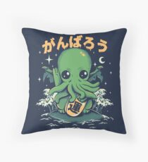 Good Luck Cthulhu Throw Pillow