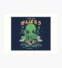 Good Luck Cthulhu Art Print