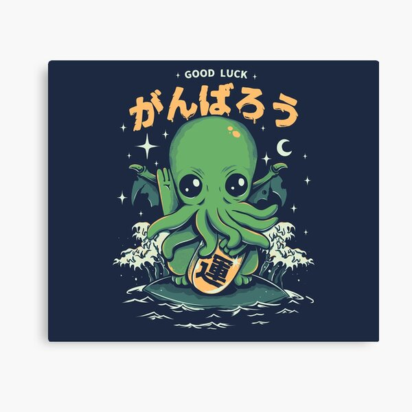 Good Luck Cthulhu Canvas Print