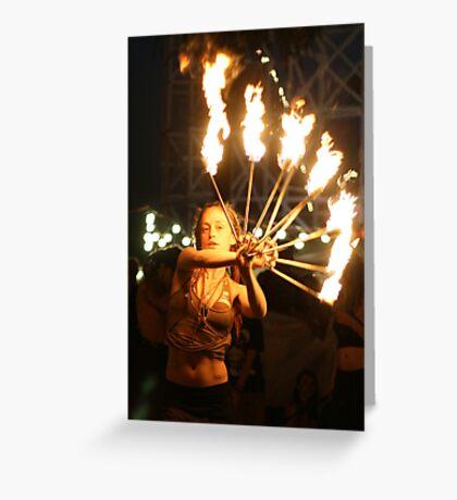 Fire dance 2 Greeting Card
