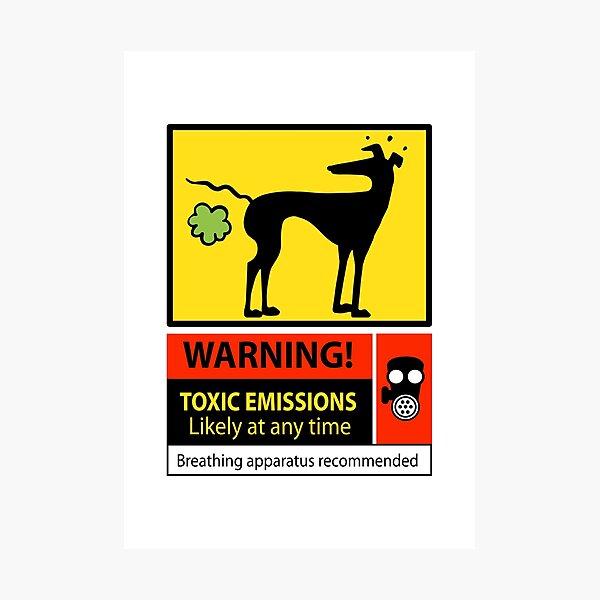Toxic emissions hazard sign Photographic Print