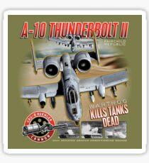 Fairchild Republic A-10 Thunderbolt II (Warthog) Kills Tanks Dead Sticker
