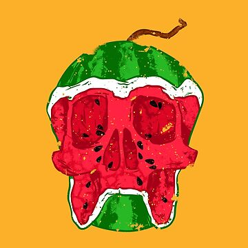 Watermelon skull by Chuvardina