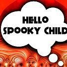 Hello Spooky Halloween card by Nick J  Shingleton